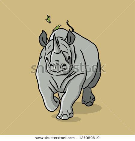 Charging Rhino clipart Similar Charging Images 119433181 ID