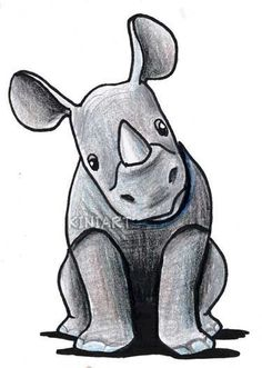 Drawn rhino mean Or rhino rhino Little