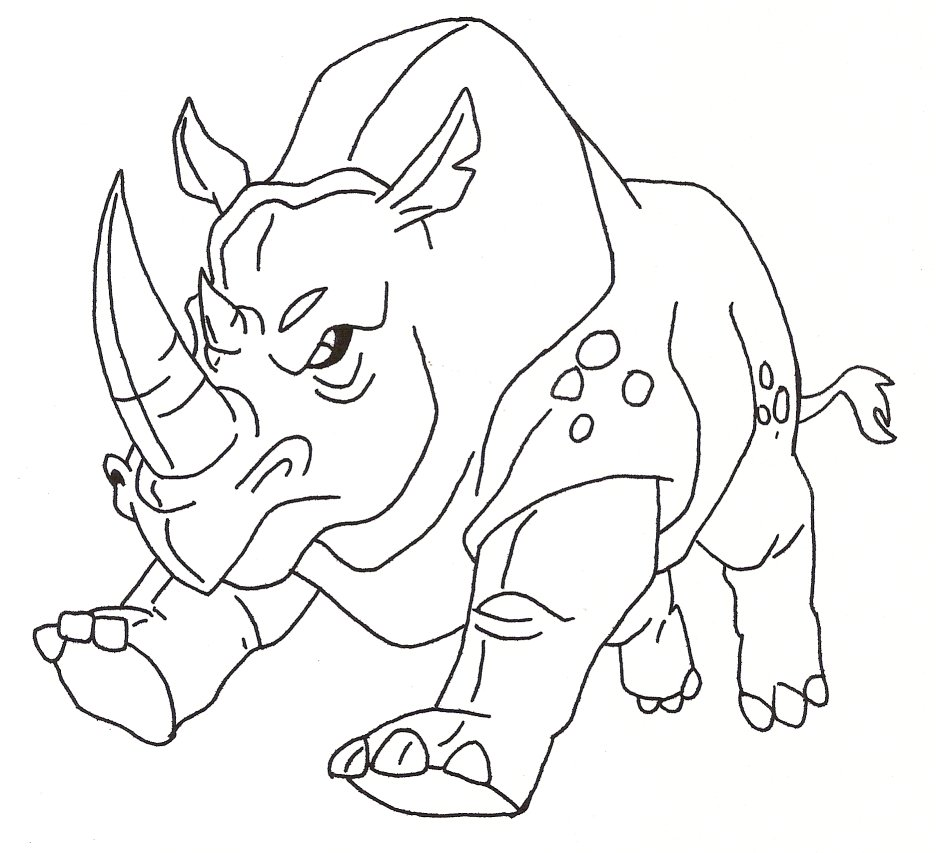 Drawn rhino mean Coloring Rhino Rhino #6 Download