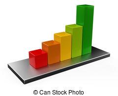 Chart clipart bar graph 3D  bar colorful Bargraph