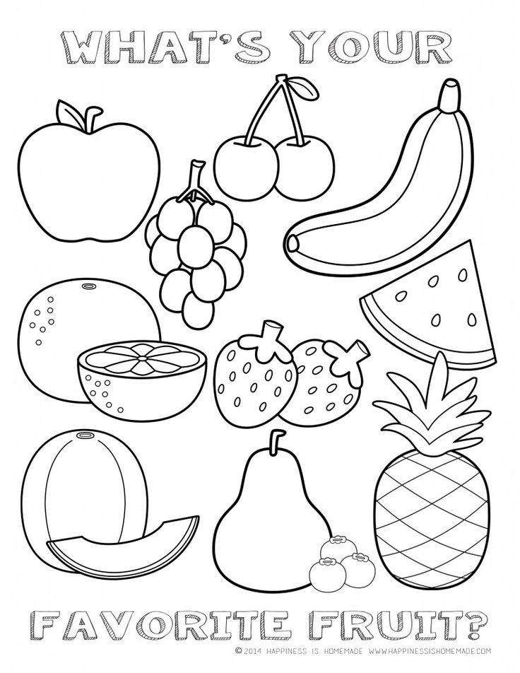 Drawn food cutout printable #10