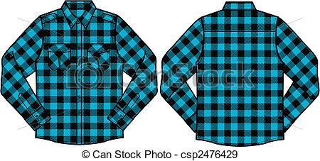 Plaid clipart plaid shirt #12