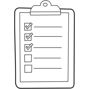 Check clipart checklist Checklists art collections Art Clip