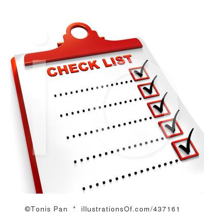 Overview clipart checklist Work Checklist Work Download Clipart