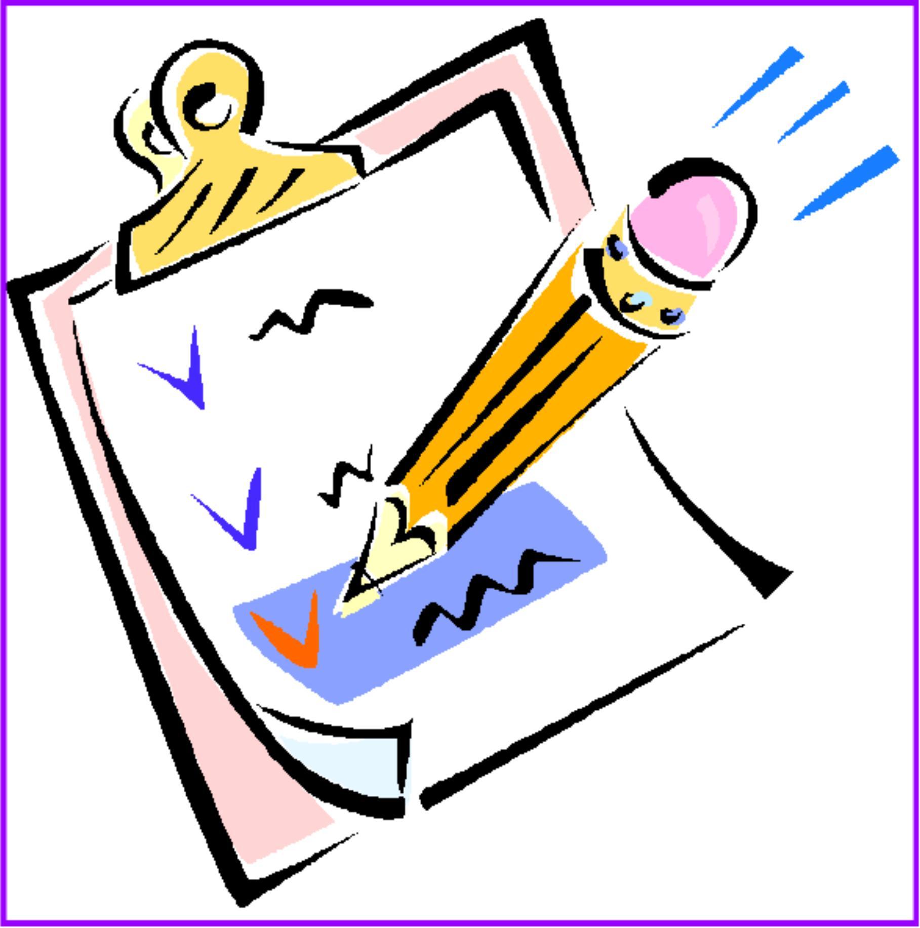 Check clipart checklist Kids Free Clip Checklist art