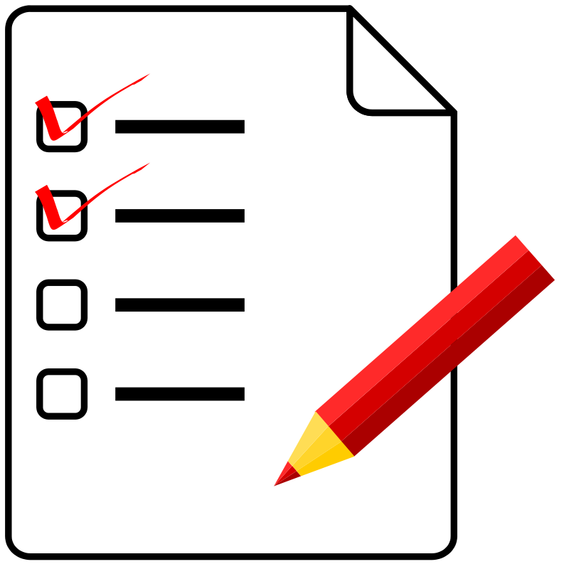 Check clipart checklist List  Free Clip Clip