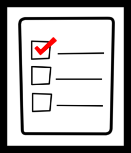 Overview clipart checklist List Check clipart: Check Panda