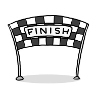 Check clipart finish line banner Line 190 Banner Clip Art