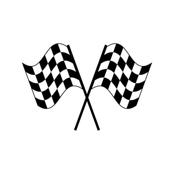 Check clipart finish line banner Checkered Checkered Crossed Flags Clipart