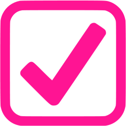 Check clipart pink Pink icons pink icon check