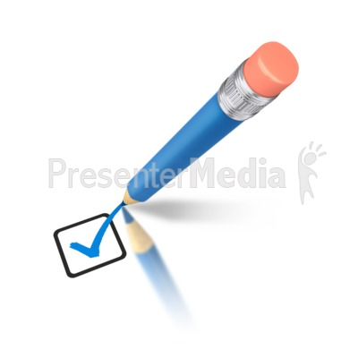 Pencil clipart powerpoint Mark and Blue Home Check