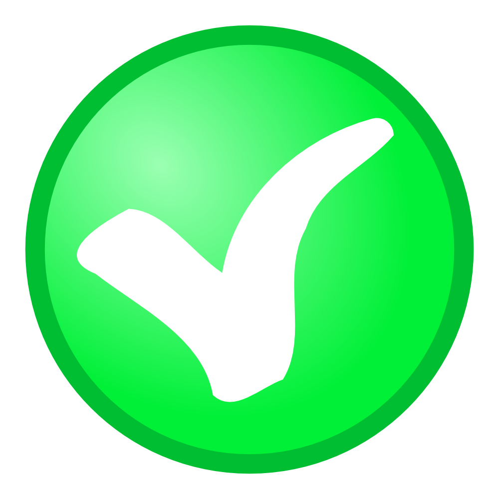 Check clipart sign Clip Sign Green OnlineLabels Sign