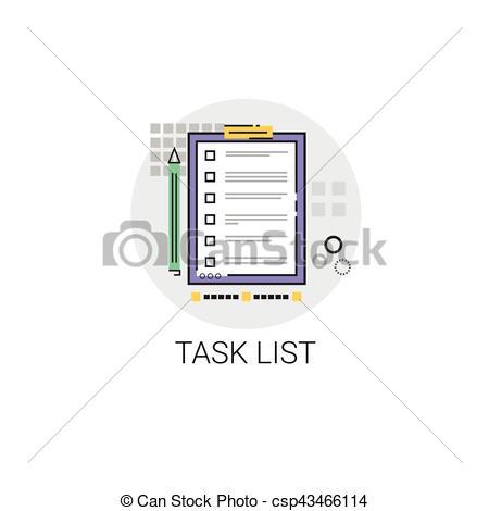 Check clipart task Vector Document List Document