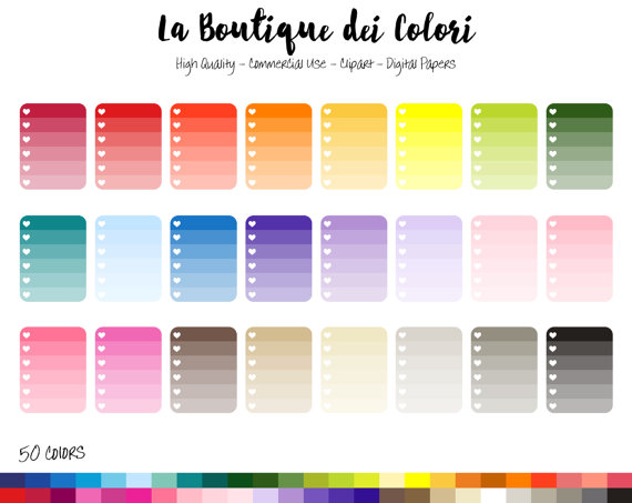 Check clipart task Clipart Ombre 50 Heart Clipart