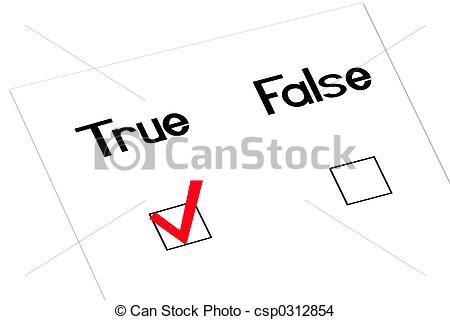 Check clipart true True with angled checkmark false