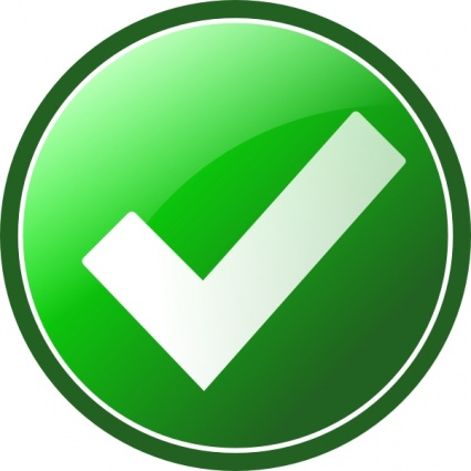 Check clipart yes Images Clipart Clipart Sign Green