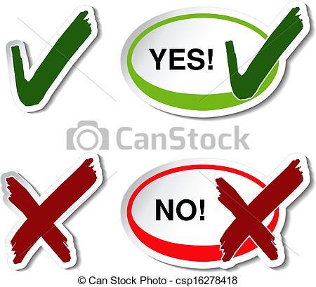 Check clipart yes Vector Clip Vector check no