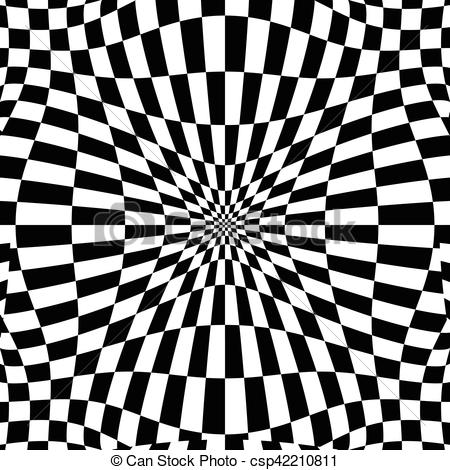 Checkerboard clipart floor Effect distortion Vector background with