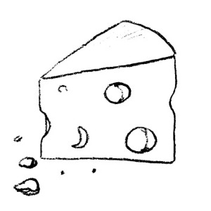 Cheese clipart outline Clipart Black And Cheese White