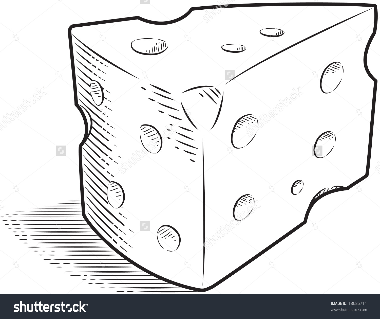 Cheese clipart outline Clipart black and cheese Swiss