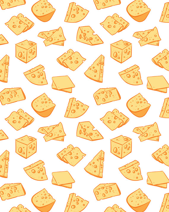 Cheese clipart pattern Vector Hand graphics seamless including