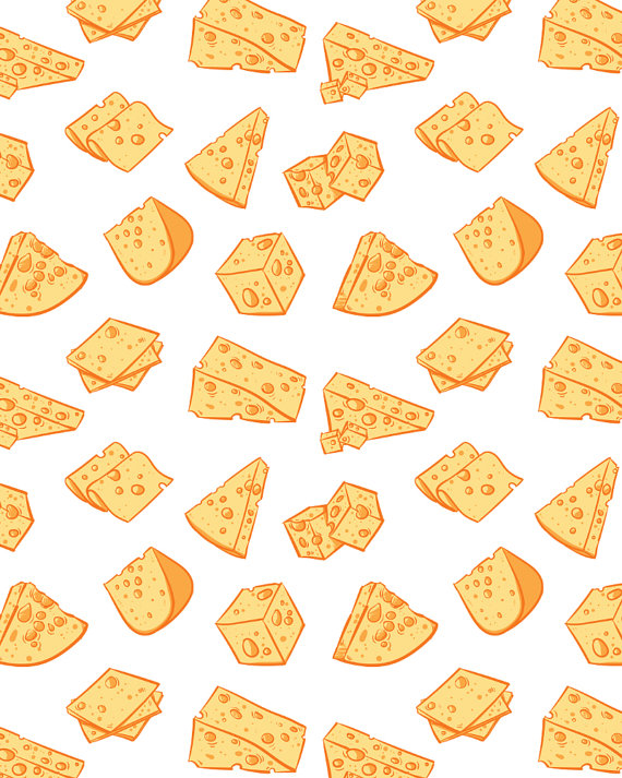 Cheese clipart pattern Digital cheese clip seamless including