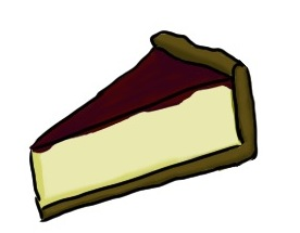 Cheesecake clipart strawberry sauce Clipart download Cheesecake  All