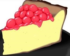 Cheesecake clipart On top with Cheesecake Cheesecake