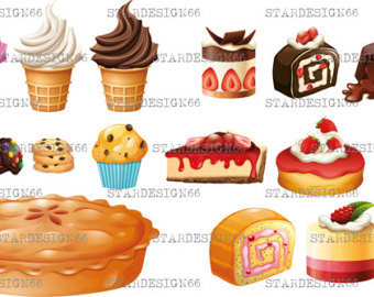 Blueberry Muffin clipart small cake Clipart ice cake EPS PNG