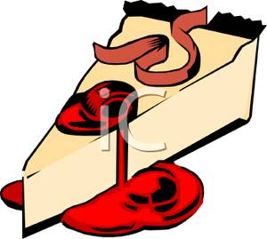 Cheesecake clipart cartoon Of of with with Cherry