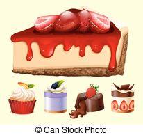 Cheesecake clipart dessert Stock  Illustrations kind 1