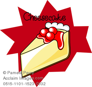 Cheesecake clipart newyork Art Cheesecake Cherry Illustration of