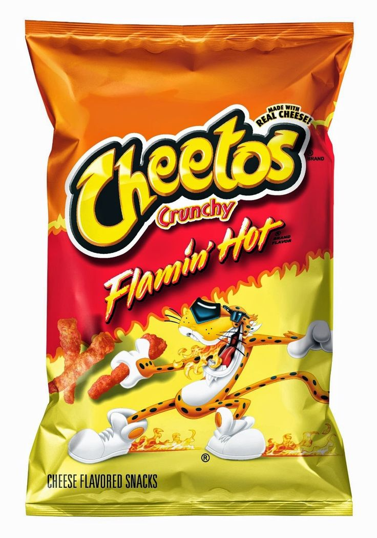 Cheetos clipart black and white Flavors 'Flamin super on for
