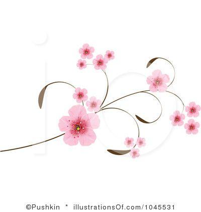Sakura clipart japanese cherry blossom #5