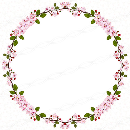 Circle clipart floral Frames  Instant wall signs