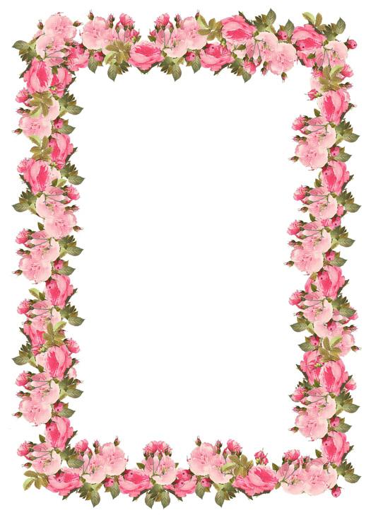 Blossom clipart frame Victorian blossoms frames Victorian Frames