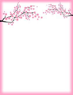 Blossom clipart frame Border  Blossom Cherry blossoms