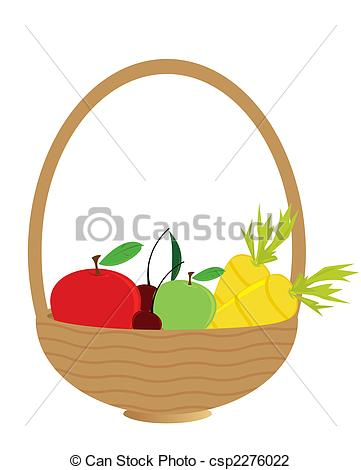 Carrot clipart basket  Clip Fruit and filled