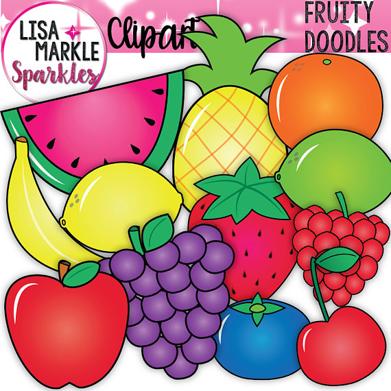 Pineapple clipart fruite Clipart Blueberry Blueberry Banana Watermelon