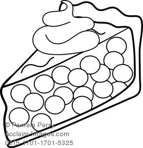 Drawn pie watercolor Coloring Piece Pie Page of