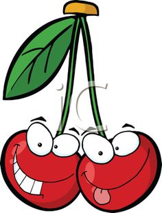Drawn cherry ICLIPART Fruit Faces just &