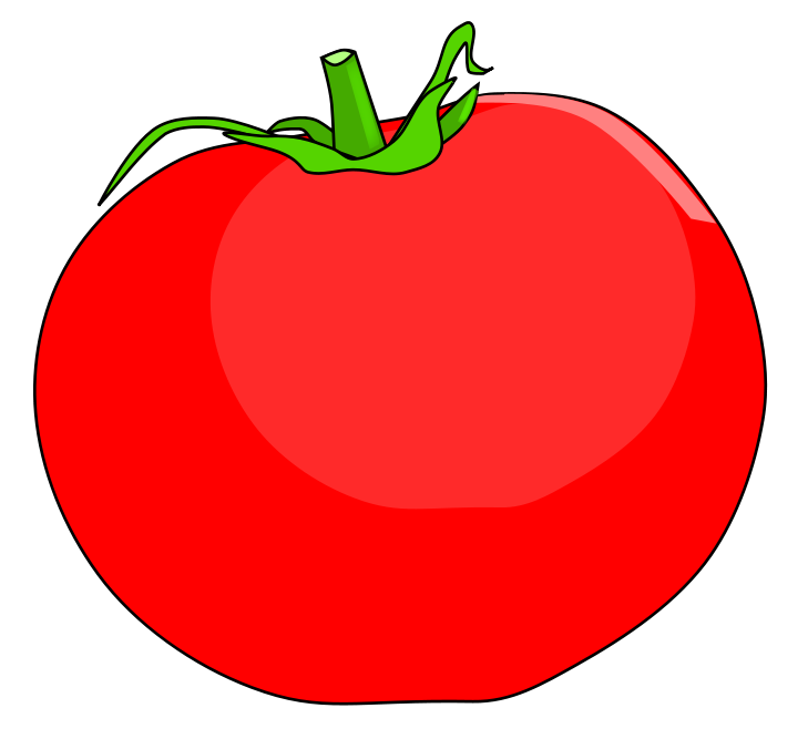Red clipart tomato #1