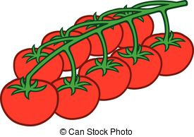 Cherry Tomato clipart bush Illustrations Cherry tomatoes on