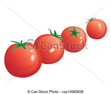 Cherry Tomato clipart Cherry of dot tomatoes EPS