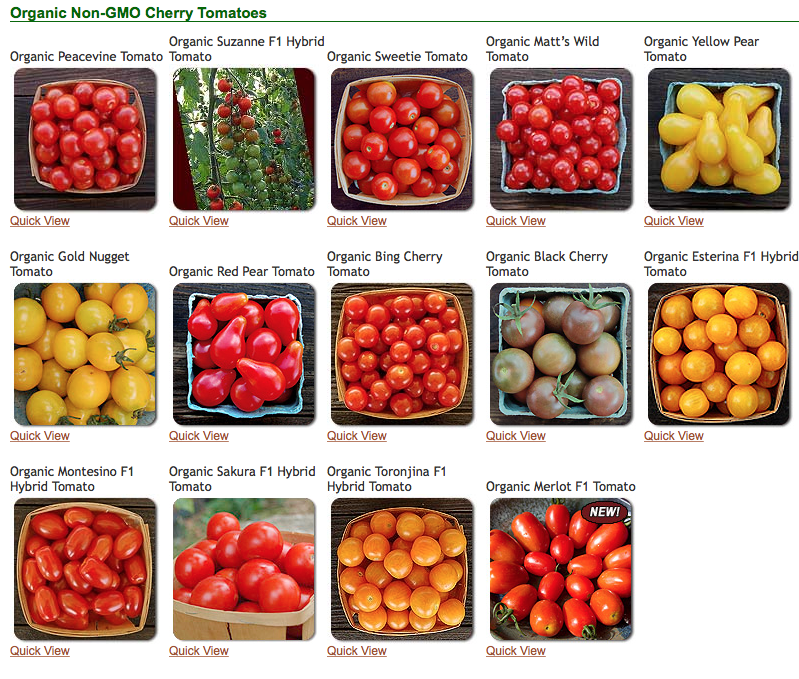 Cherry Tomato clipart different kind plant Tomatoes Arcoiris Organic Cherry Gardening