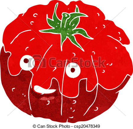 Cherry Tomato clipart happy EPS Clip Vector happy tomato