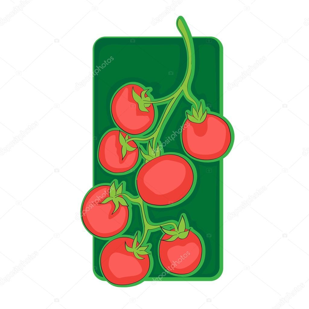 Cherry Tomato clipart pepper plant – Cherry Stock Photo ©