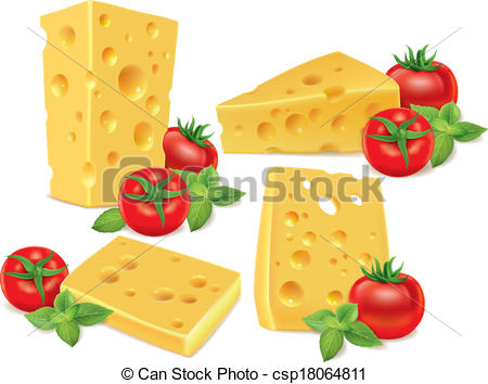 Cherry Tomato clipart round Of basil tomatoes Cheese Contains