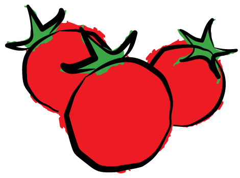 Cherry Tomato clipart round That work 12/1 sizes pack