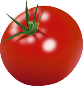 Red clipart tomato #8